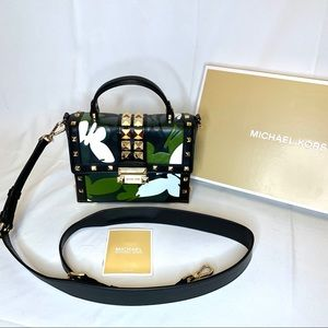 Micheal Kors Jayne Camouflage Trunk Purse NWT